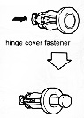 Hinge cover fasteners