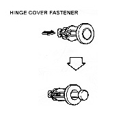 hinge cover fastener CLOSE